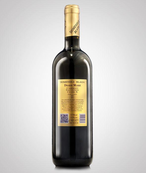 Domeniile Blaga Cabernet Sauvignon Cuvee X 2011 Sec Vin de calitate superioara Cumpara vin online Dealu Mare