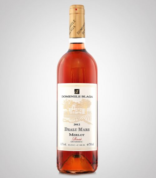 Domeniile Blaga Merlot Rose Demisec 2012 cumpara vin online Vin Rose Dealu mare