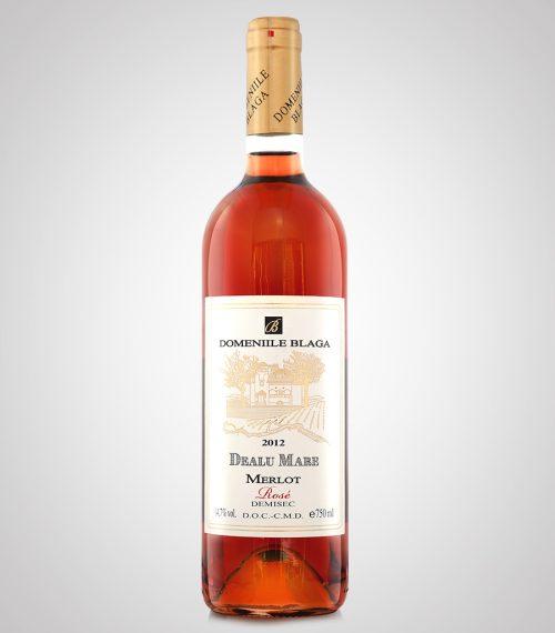 Domeniile Blaga Merlot Rose Demisec 2012 cumpara vin online Vin Rose Dealu mare