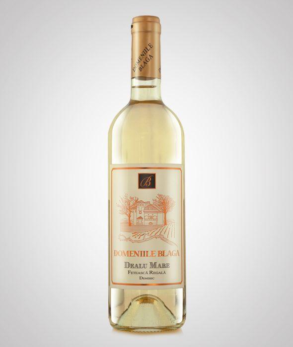 Domeniile Blaga Vin Alb Feteasca Regala 2014 Dealu Mare Vin alb demisec de calitate superioara Cumpara vin online